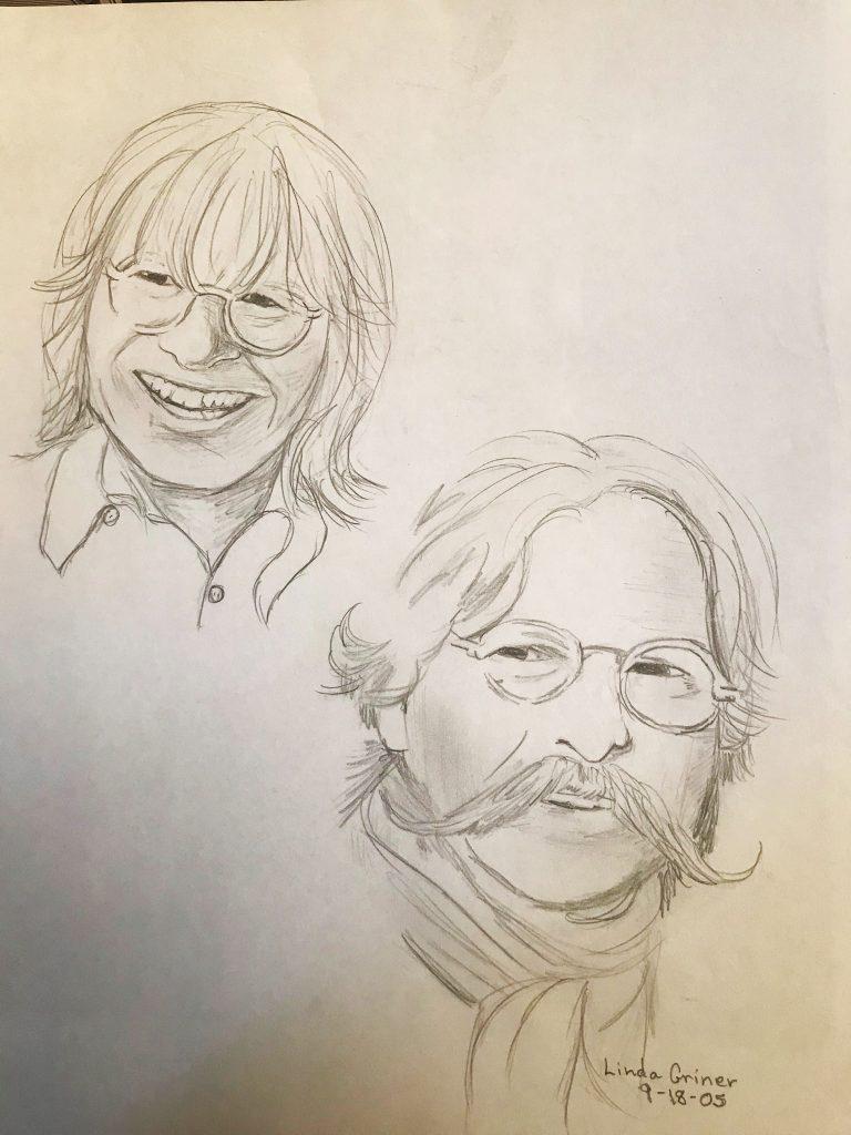 john denver kenny durham sketch drawing